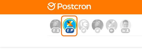 Seleccionar cuenta de Postcron