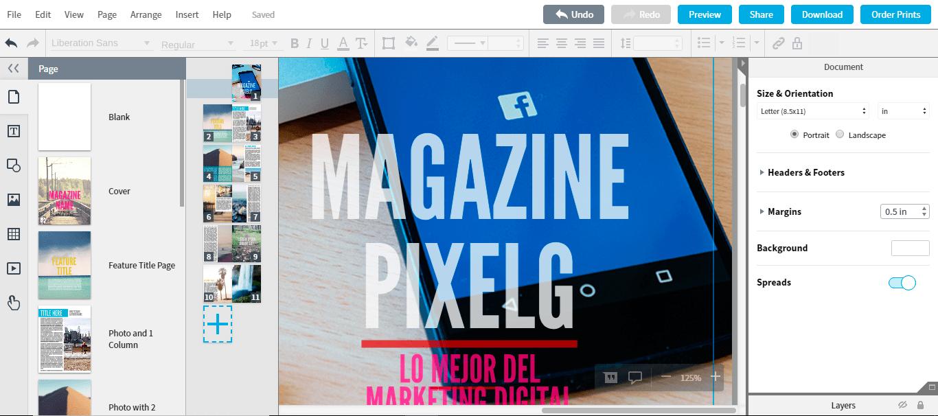 Diseña revistas online con Lucidpress