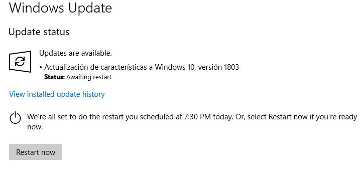 Como actualizar a la ultima versión de Windows 10