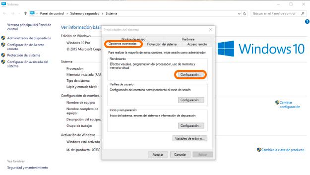 Mejora el rendimiento de tu PC en Windows 10