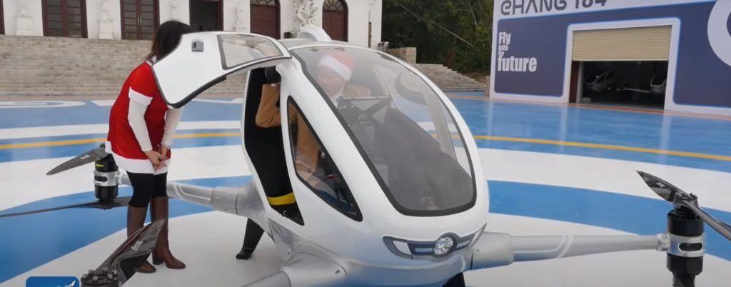 El futuro es hoy: primer dron para un pasajero, el Ehang 184