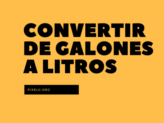 Convertir de galones a litros